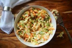 Carbs in Coleslaw