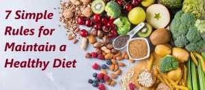 how to maintain healthy diet