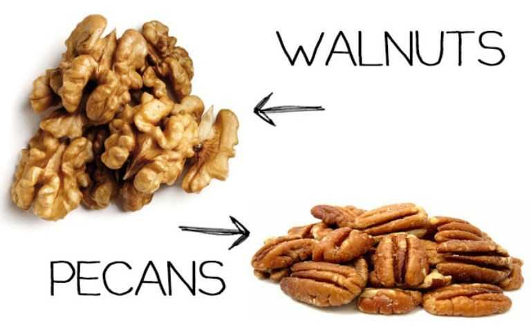 Walnuts vs pecans
